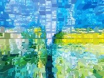 Abstractie Samenvatting Textuur geweven uniciteit abstracties samenvattingen texturen vector illustratie