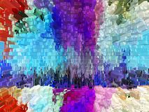 Abstractie Samenvatting uniciteit abstracties samenvattingen texturen kleurrijk kleuren Grafiek royalty-vrije illustratie