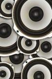 Abstractie van akoestiek, ladingsspreker Stock Foto's