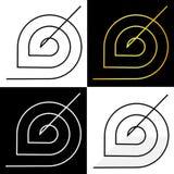 Abstractie van cirkels en hoekendoel bedrijfsembleem Royalty-vrije Stock Afbeeldingen