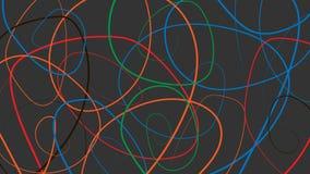 Abstractie van de multi-colored lijnen Abstracte illustratie op donkere achtergrond royalty-vrije stock afbeeldingen