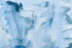 Abstractie van de ultramarijn de zwarte waterverf Royalty-vrije Stock Foto's