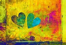 Abstractie van een hart op een heldere achtergrond Stock Foto
