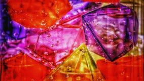 Abstractie van gekleurd ijs stock foto's