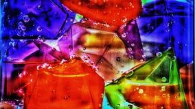 Abstractie van gekleurd ijs royalty-vrije stock afbeelding