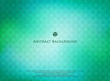 Abstractie van geometrische vierkante oppervlakte op vlotte groene kleurenachtergrond stock illustratie