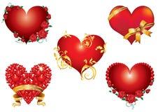 Abstractie van het hart. Stock Foto's