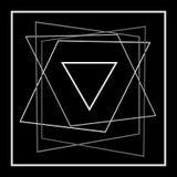 Abstractie van vierkant van bedrijfs contourenkruisingen embleem Stock Afbeeldingen