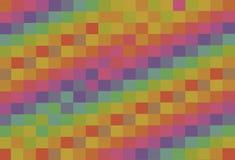 Abstractie veelkleurige achtergrond van het vierkant van pastelkleurtonen Stock Afbeeldingen