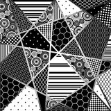 Abstraction. From decorative pattern fragments in black, grey and white tones Royalty Free Stock Photo