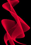 Abstraction. Abstract red shapes motion on black background Royalty Free Stock Image