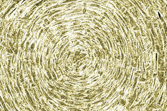 Abstraction. Abstract background: mustard-yellow spiral made of breaked lines Stock Photos