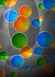 Abstraction. Beautiful abstract background with multicolored circles - eps 10 Royalty Free Stock Photos