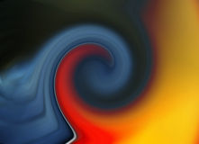 Abstraction. Color abstract composition with flowing design Royalty Free Stock Photography