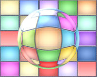 Abstraction. Background from the colored rectangles and bubble vector illustration
