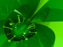 Abstraction. The stylish abstract image of green colour. 3d vector illustration