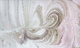 Abstraction. Abstract composition on paper using the manual marbling Royalty Free Stock Photos