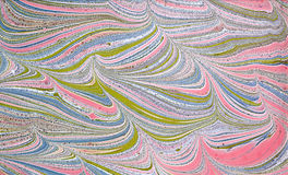 Abstraction. Abstract composition on paper using the manual marbling Royalty Free Stock Image