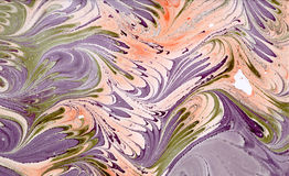 Abstraction. Abstract composition on paper using the manual marbling vector illustration