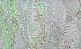Abstraction. Abstract composition on paper using the manual marbling stock images