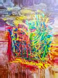Abstraction with different colored colors. Abstraction. Abstract. Painting. Picture. Texture. Textured. Uniqueness. Abstractions. Abstracts. Textures. Colorful Royalty Free Stock Photos