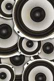 Abstraction of acoustics,load speaker. Abstraction of acoustics, load speaker Stock Photos