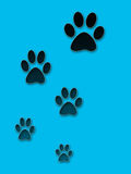 Abstraction As Tracks Of Dog Royalty Free Stock Photography