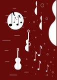 Abstraction avec des guitares Illustration Stock