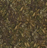 Abstraction for the background. dark brown fabric with floral ornaments made from forest leaves. Stock Images
