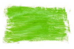 Abstraction for background, rectangular pattern with green paint on white isolated background. Horizontal frame vector illustration