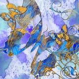 Abstraction bleue Photo libre de droits