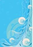Abstraction bleue. illustration stock