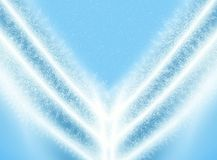 Abstraction blue Christmas background for card. And other design artworks Stock Images