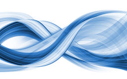 Abstraction of blue-coloured curves Royalty Free Stock Image