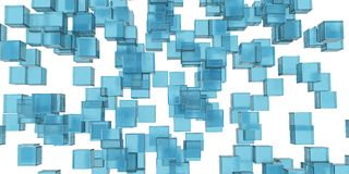 Abstraction of the blue ice cubes Stock Photos