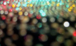Abstraction - bokeh from zoom lights to decrease. This lightful colorful melange bokeh with aquamarine blur lights, scarlet inclusion, pastel grey, beige and stock photos