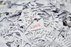 Abstraction of broken relationships. Royalty Free Stock Images