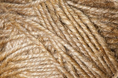 Brown weave threads Royalty Free Stock Images