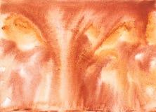 Abstraction brune orange d'aquarelle Image stock