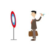 Abstraction. businessman throwing an arrow Stock Images