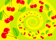 Abstraction with cherries Royalty Free Stock Photo