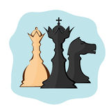 Abstraction of chess pieces. Vector image of chess pieces Royalty Free Stock Images