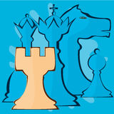 Abstraction of chess pieces. Vector image of chess pieces Royalty Free Stock Photo