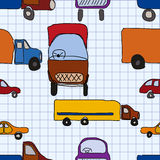 Abstraction, children's drawings of cars. Stock Photo