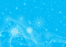 Abstraction Christmas snowflakes stock images
