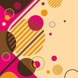 Abstraction with circles. Abstraction with circles in color Royalty Free Stock Photos