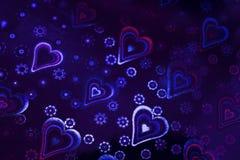 Abstraction Coeur coloré Jour du `s de Valentine Images libres de droits