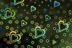 Abstraction Coeur coloré Jour du `s de Valentine Photo stock