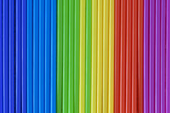 Abstraction of color scale from vertical color tubes, rainbow spectrum. Stock Image