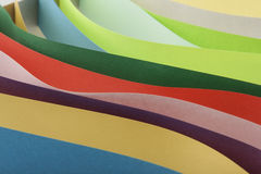 Abstraction from colored paper Royalty Free Stock Photography